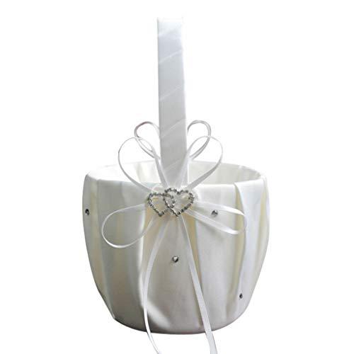 Amosfun per matrimonio e cerimonia nuziale vintage rustica Taglia 1 Picture 1 4 cestini in iuta con fiocco