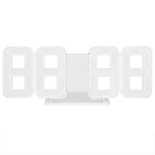 Despertador del colgante de la pared del escritorio de los relojes digitales del LED 3D con la exhibición de la temperatura de la fecha