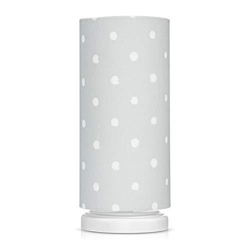 Lamps & Company Lampe de chevet à pois gris