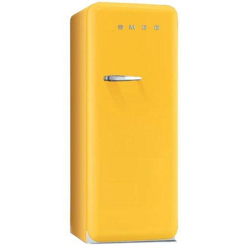 Smeg FAB28RG1 Standkühlschrank / A++ / 248 L / Gelb / mit integriertem Gefrierteil / Rechtsanschlag