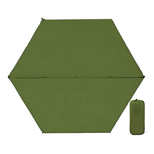 Style wei Hexagon Automatische Aufblasbare Kissen Dicke Elastische Baumwolle Aufblasbare Bett Camping Camping Ausrüstung Außenzelt Schlafmatte Feuchtigkeitsauflage (Color : Green)