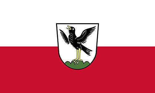 Diplomat magFlags Raum-Fahne mit modernem verchromtem Fahnenständer & Marmor-Fuß   Flagge: Starnberg, St 90x150cm   Höhe: 230cm