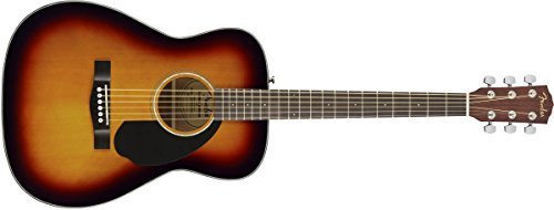 Fender CC-60S Right Handed Acoustic-Electric Guitar - Concert Body Style - Black