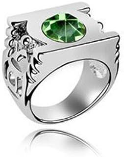 淘韩时尚 水晶戒指--绿灯侠戒指(橄榄)女饰品情侣