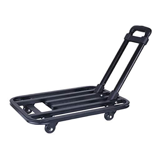 ZGW Carretilla de mano plegable, resistente al desgaste, carro utilitario compacto y ligero para equipaje, compras personales, viajes, mudanza y uso en la oficina, plegable portátil