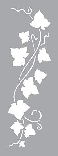 GRAINE CREATIVE 226002 Pochoir Décor 15 x 40 Lierre, Plastique, Gris, 15,5 x 0,1 x 47,5 cm