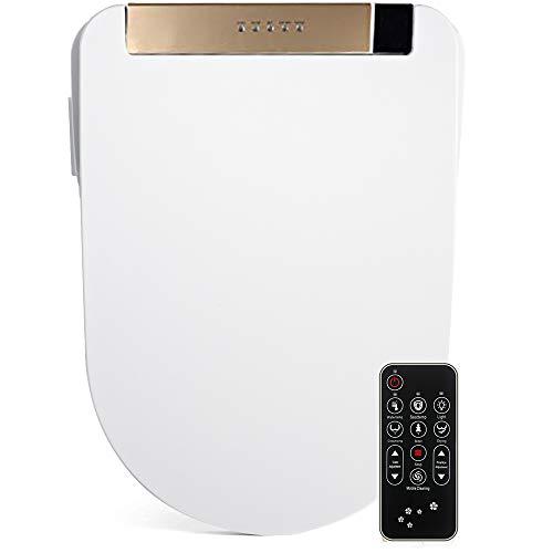 FOHEEL Asiento de inodoro inteligente avanzado con pantalla LCD, mando a distancia...