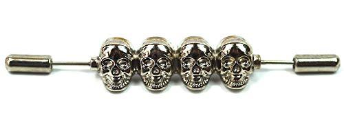 Gemelolandia Halskette, Bar-Anstecknadel, viereckig, versilbert, Original-Anhänger für Männer und Frauen, Geschenkidee für Familienfreunde oder Paar