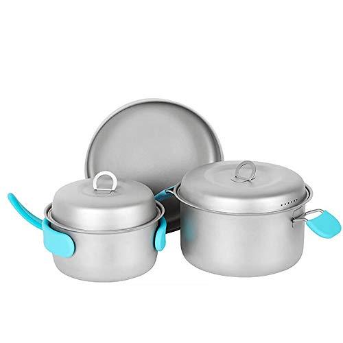 Zyangg-Home Camping Set Pot kookgerei Camping servies Set draagbare picknick fornuis licht outdoor speelgoed enkele braadpan set Pot