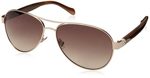 Fossil Women's FOS3079s Aviator Sunglasses, GDCREBRHR, 60 mm