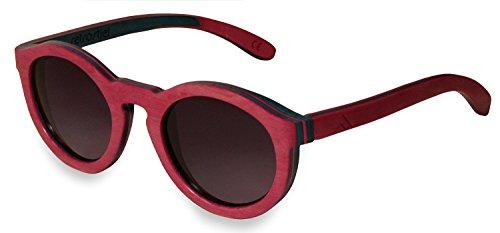 retrostiel Sonnenbrille aus Holz für Damen, Holzsonnenbrille Sweetheart (Skateboard)