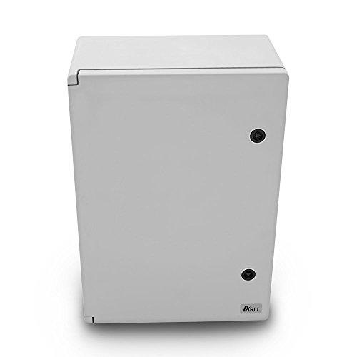 Schaltschrank IP65 Industriegehäuse 350 x 500 x 195 mm verzinkter Montageplatte Verriegelung Tür mit umlaufender Dichtung Gehäuse Leergehäuse ABS Kunststoff leer Schrank ARLI 35 x 50 x 19,5 cm