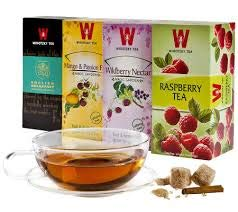 Wissotzky Tea Black and Herbal Tea Collection with, Raspberry, English Breakfast, Wildberry Nectar, and Mango & Passion Fruit