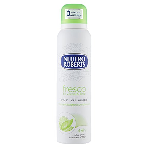 Neutro Roberts Deodorante Fresco Tè Verde e Lime Spray, 150ml