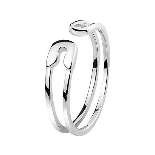 SOFIA MILANI - Damen Ring als Sicherheitsnadel Safety Pin - Aus echtem 925 Sterling Silber - 10087-60 (19.1)