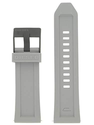 Diesel Correa de reloj intercambiable LB-DZ4496, de caucho, 26 mm, gris