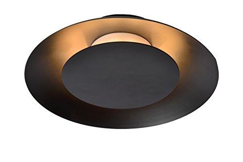 Lucide FOSKAL - plafondlamp - Ø 21,5 cm - LED - 1x6W 2700K - zwart