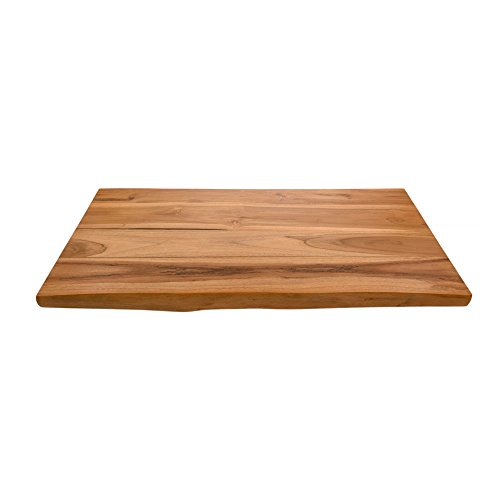 wohnfreuden Teak Holz Waschtischplatte Unterschrank Naturstein Gr. L 100x50x4 cm Holzplatte für Waschbecken lasiert