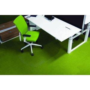 Ecogrip Bodenschutzmatte Teppichböden 150x120cm transparent oval