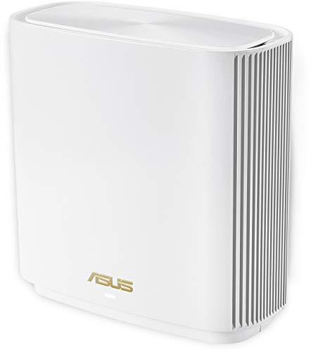 ASUS ZenWiFi AX (XT8) Routeur sans fil Wi-Fi 6 Mesh, Tri-Bande (2,4 GHz / 5 GHz / 5 GHz) 6600 Mbit/s, 200m2, AiProtection avec TrendMicro à vie, Port WAN/LAN 2,5 Gigabit + 3 Ports LAN Gigabit, AiMesh