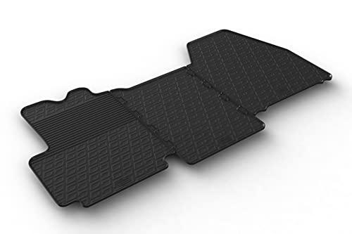 Gledring Set tapis de caoutchouc compatible avec Citroen Jumper / Peugeot Boxer / Fiat Ducato 2006-2013 & 2014- (G profil 3-pièces)