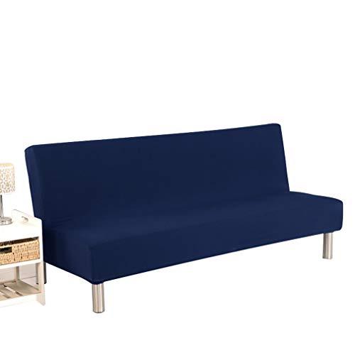 WEQQ Funda de sofá Cama Plegable Todo Incluido Cojín de sofá cómodo Universal (NavyS)