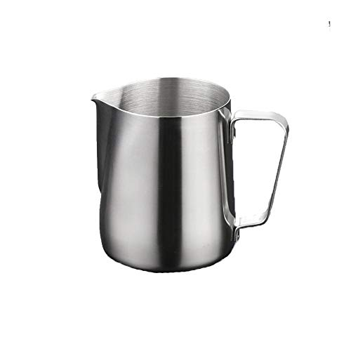 Yonger Stainless Steel Frothing Pitcher Milk Steaming Pitcher With Measurement 12 OZ 350 ml