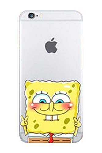 ALL4TOUCH Cover iPhone 6 6S Plus S Principesse Favole (iPhone 5 / 5S / SE, Spongebob Grande)