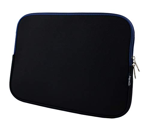 Emartbuy Black/Midnight Blue Water Resistant Neoprene Soft Zip Case Cover Sleeve Compatible With for Linx 12V64 12 Inch Tablet PC with Keyboard