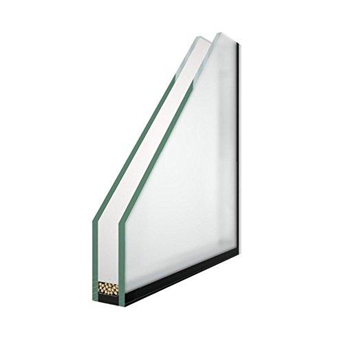 Isolierglas - Glaspaket - Satinato (Milchglas) - 2-Fach Verglasung - Wärmeschutzglas - Fensterscheibe - 0,6 m² - nach Ihrem Wunschmaß