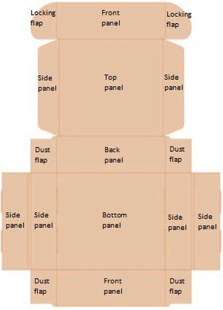 15 Cardstock Gift Boxes (Kraft, Black, White)