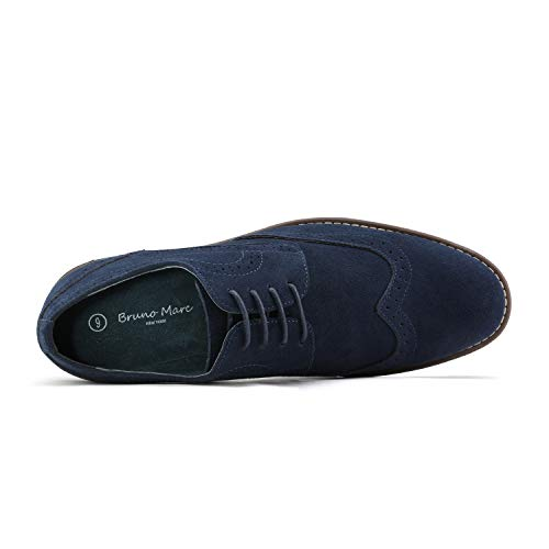 Bruno Marc Men's URBAN-03 Navy Suede Leather Lace Up Oxfords Shoes – 11 M US