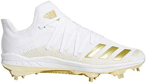 adidas Men's Afterburner 6 Gold Metal Baseball Cleats White/Gold 10