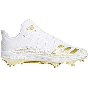 adidas Afterburner 6 Mens Metal Baseball Cleats White/Gold