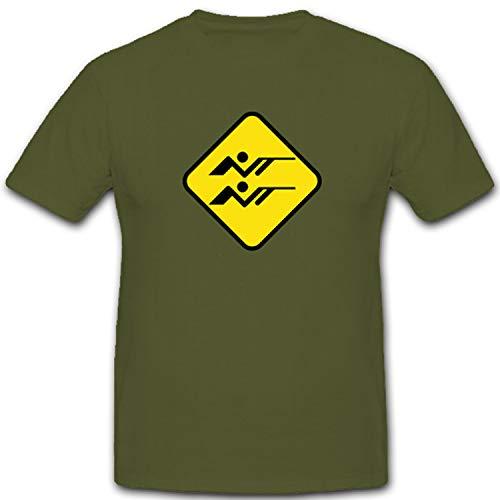 Sportschützen Schild Pistole Gewehr Waffen Sportschießen Schild- T Shirt #4267, Größe:XXL, Farbe:Oliv