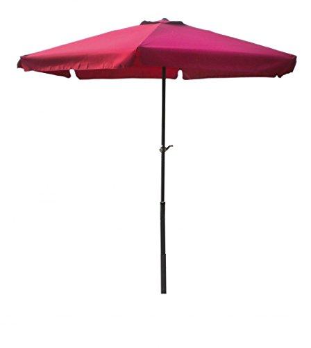3 meter Sonnenschirm mit Kurbel rot burgundrot