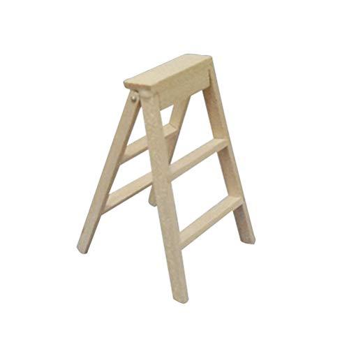 Mini Cute Ladder Mini House Mini Faltbare Holzleiter für Kinder, die mit Spielen