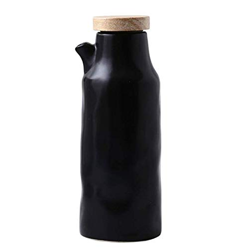 Ceramics Dispenser Bottle,Olive Oil/Soy Sauce/Vinegar Cruet, Liquid Condiment Dispenser for Kitchen Cooking,320ml (Ceramics-B)