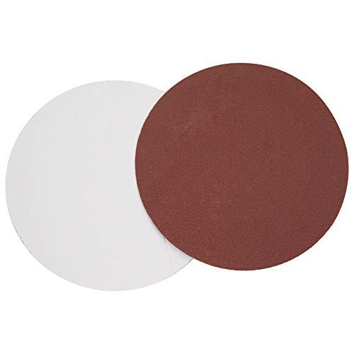 POWERTEC 110541 8-Inch PSA Aluminum Oxide Adhesive Sanding Disc 5 pcs of each grits: 60/80/100/120/180/240, 30 PK