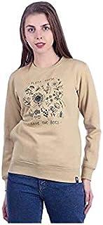 Plush Women's Cotton Full Sleeve Sweatshirt/Sweatshirts (Khakhi)