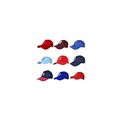 Casquette supporter équipe football produit officiel - différentes équipes au choix - Taille unique, coton, Everton (Bleu roi)
