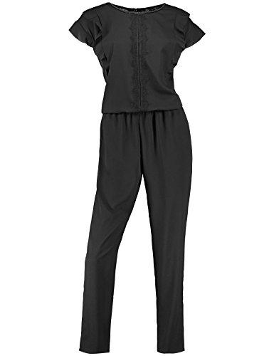 TAIFUN Damen Freizeit Sonderpassf Jumpsuit, Schwarz (Schwarz 11000), 36