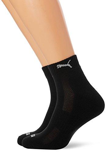 PUMA Herren Socken CUSHIONED QUARTER 2P UNISEX, black, 39-42, 261086001