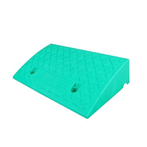 Rampa Rampas Curb Ramp Rampa De La Rampa De La Rampa De La Rampa De La Rampa De La Rampa Rampa De Umbral De Plástico De Trabajo Pesado Ligero Portátil Para La Carga Del(Size:50*22*13cm,Color:verde)