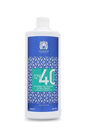 Valquer Profesional Oxigenada Premium Ultra-Cremosa 40 Vol (12%). Agua oxigenada para tintes. coloración capilar permanente - 1000 ml