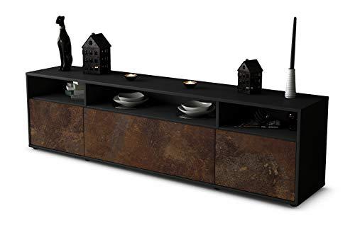 Stil.Zeit TV Schrank Lowboard BIANCA, Korpus in Anthrazit Matt/Front im Rost Antik Industrie Design...