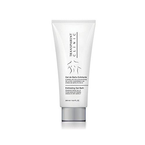 Transparent Clinic – Gel de douche exfoliant, élimine les cellules mortes de la peau, de 200 ml