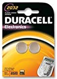 Duracell – Piles bouton 2032 non-rechargeable (-20 – 54°C, CR2032, Lithium)