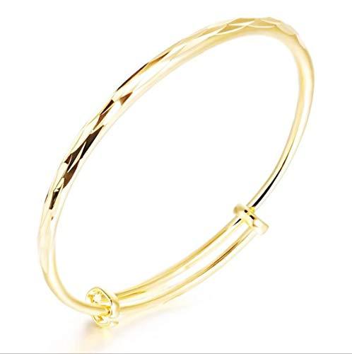 Beydodo Vergoldet Damen Armreif Armbänder Glatt Armband Gold