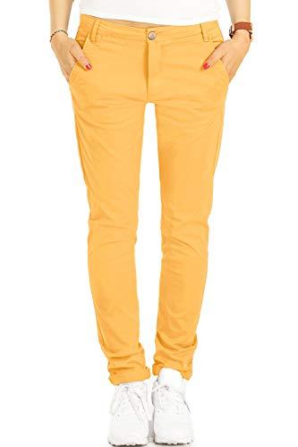 Be Styled Damen Chinos, Stoffhosen, Klassische Hosen mit Stretch j5m 40/L gelb